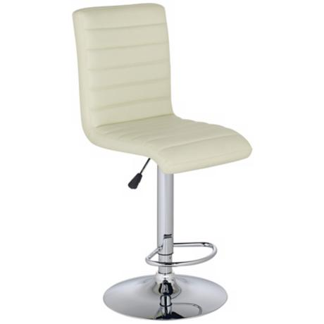 Scribbler Contemporary Vanilla Adjustable Height Bar Stool