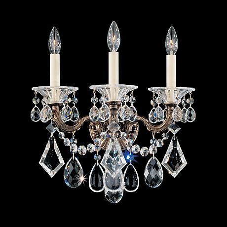 "Schonbek La Scala Collection 15"" Wide Crystal Wall Sconce"