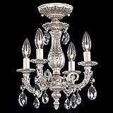"Schonbek Milano 11 1/2"" Swarovski Crystal Ceiling Light"