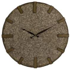"Broderick Granite 24"" Wide Wall Clock"