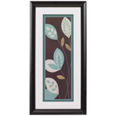 "Teal Bloom II Framed 24"" High Wall Art"