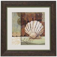 "Contemporary Shell I Framed 19 1/4"" Square Wall Art"