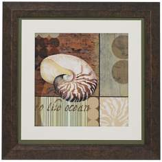 "Contemporary Shell II Framed 19"" Square Wall Art"