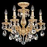 "Schonbek Milano Collection 17"" Wide Crystal Ceiling Light"