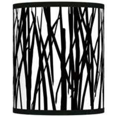 Black Jagged Stripes Giclee Shade 10x10x12 (Spider)