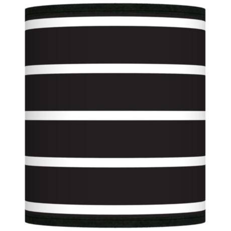 Bold Black Stripe Giclee Shade 10x10x12 (Spider)