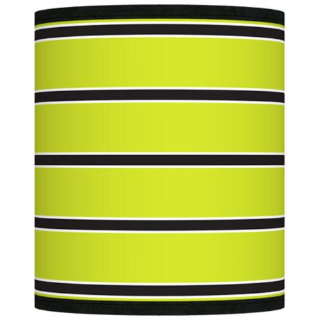 Bold Lime Green Stripe Giclee Shade 10x10x12 (Spider)