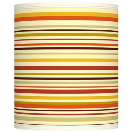 Stacy Garcia Lemongrass Stripe Giclee Shade 10x10x12 (Spider)