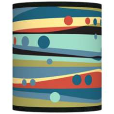 Retro Dots and Waves Giclee Shade 10x10x12 (Spider)