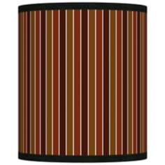 Cinnamon Stripes Giclee Shade 10x10x12 (Spider)