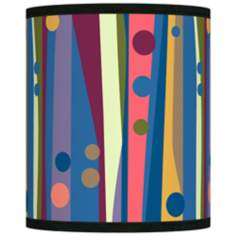 Retro Dots Vertical Giclee Shade 10x10x12 (Spider)