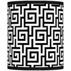 Greek Key Giclee Shade 10x10x12 (Spider)