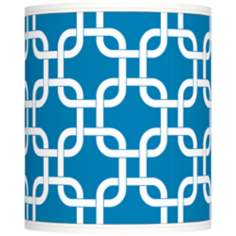 Blue Lattice Giclee Shade 10x10x12 (Spider)