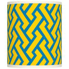 Yellow Brick Weave Giclee Shade 10x10x12 (Spider)