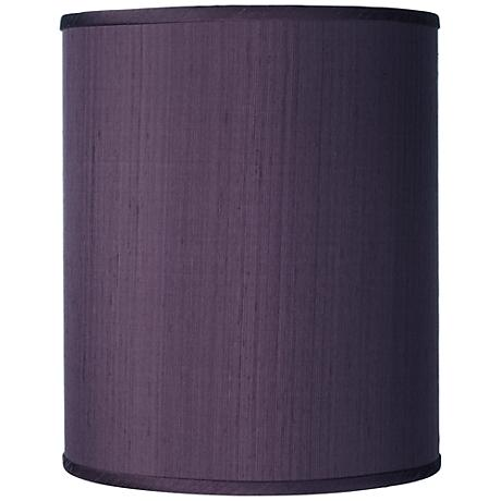 Eggplant Faux Silk Silk Drum Shade 10x10x12 Spider