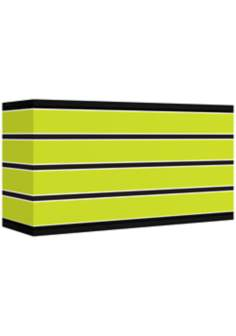 Bold Lime Green Stripe Giclee Shade 8/17x8/17x10 (Spider)