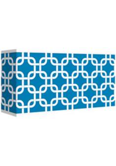 Blue Lattice Giclee Shade 8/17x8/17x10 (Spider)