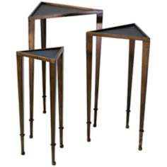 Set of Three Triangle Nesting Tables