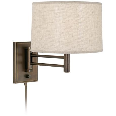 Robert Abbey Anders Dark Brass Plug-In Swing Arm Lamp