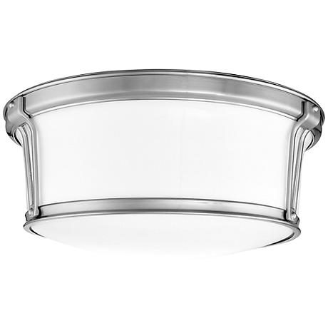 "Hudson Valley Newport 15"" Wide Satin Nickel Ceiling Light"