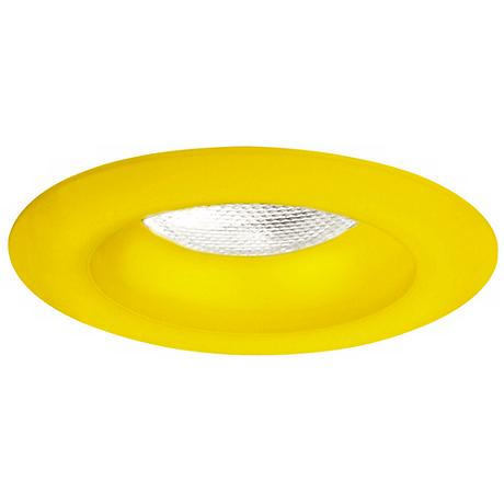 "Frosted Sunshine Yellow Effetre Glass 6"" Recessed Trim"