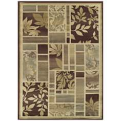 Tremont Collection Leafy Screens Chocolate Area Rug
