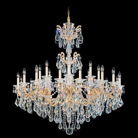 "Schonbek La Scala Collection 46"" Wide Crystal Chandelier"