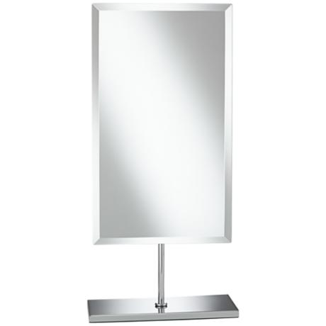 Aptations Miniminalist Chrome Adjustable Vanity Stand Mirror