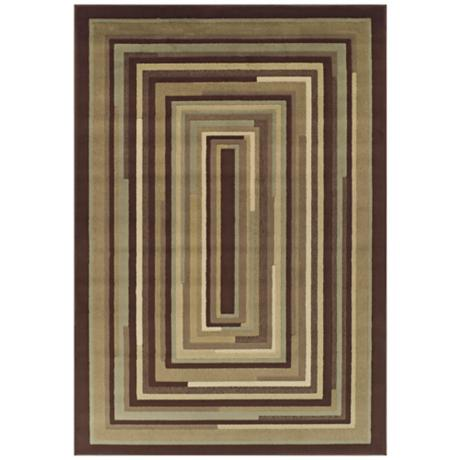 Tremont Collection Stacked Planes Chocolate Area Rug