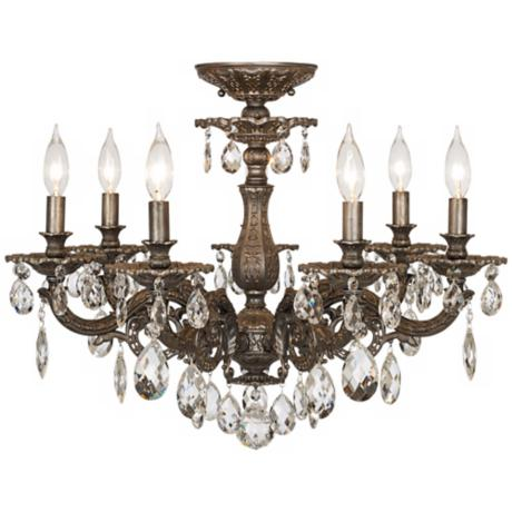 "Schonbek Milano Collection 24"" Wide Crystal Ceiling Light"
