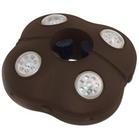 Brown 40-LED Umbrella Light