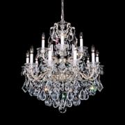 "Schonbek La Scala Collection 28"" Wide Crystal Chandelier"