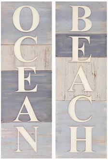 Ocean and Beach Typogrpahic Art