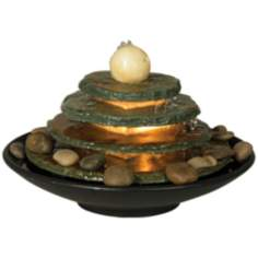 Pyramid Feng Shui Ball Lighted Table Fountain