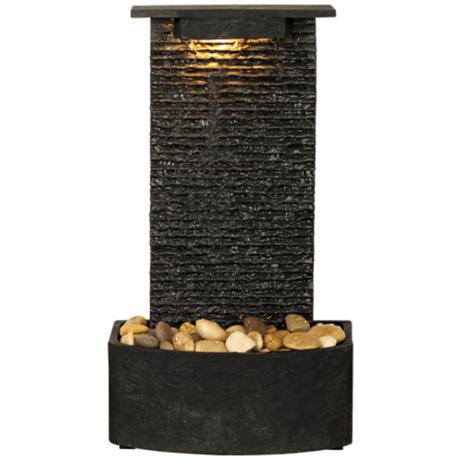 "Slate 22 1/4"" High Floor Fountain"