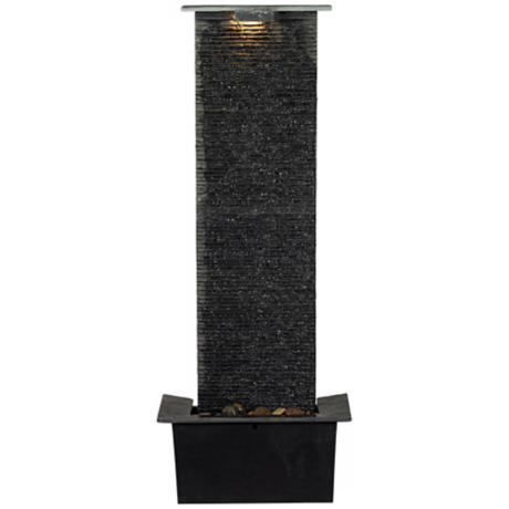 "Waterfall Slate 48"" High Floor Fountain"