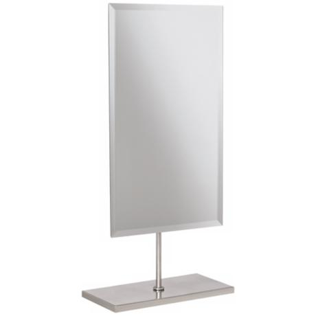 Aptations Minimalist Brushed Nickel Vanity Mirror