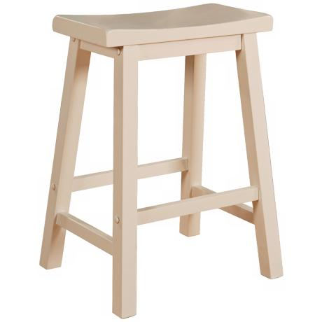 "Color Story Pure White 24"" High Counter Stool"