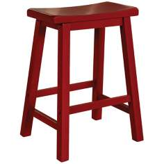 "Color Story Crimson Red 24"" High Counter Stool"