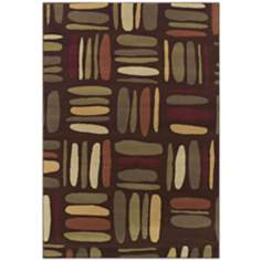 Tremont Collection Jazzanova Chocolate Area Rug