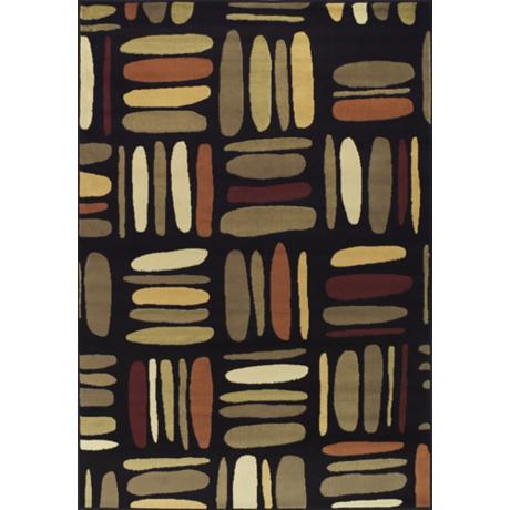 Tremont Collection Jazzanova Black Area Rug