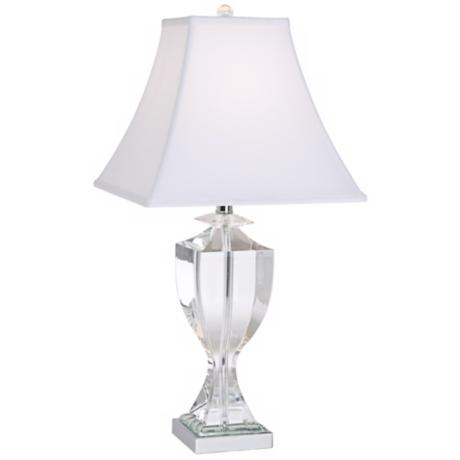 Vienna Full Spectrum Taper Square Crystal Column Table Lamp