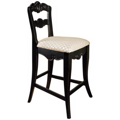 "Hills of Provence Antique Black 24"" High Counter Stool"