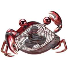 Crab Mottled Brass Figurine Fan