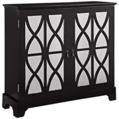 Chenoa Black Mirrored Glass Console Chest