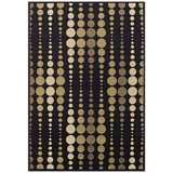 Tremont Collection Strands Black Area Rug