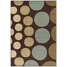 Tremont Collection Drops Chocolate Area Rug