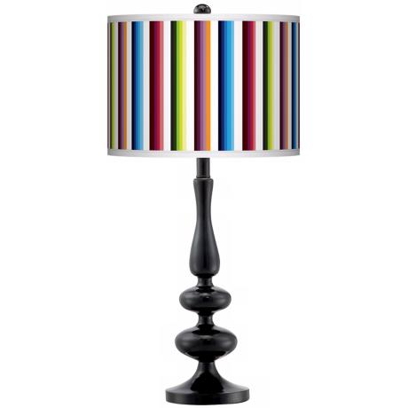 Technocolors Modern Gloss Black Base Table Lamp