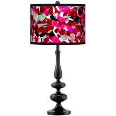 Palette Dots Giclee Paley Black Table Lamp