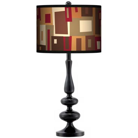 Earth Palette Giclee Paley Black Table Lamp
